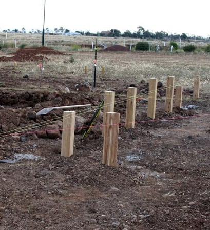 timber stumps for a victorian house