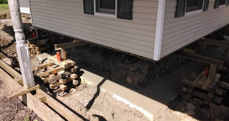 foundation repairs in old melbourne house