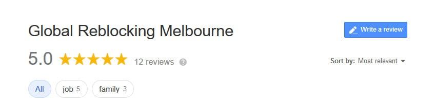 Global Reblocking Melbourne Reviews